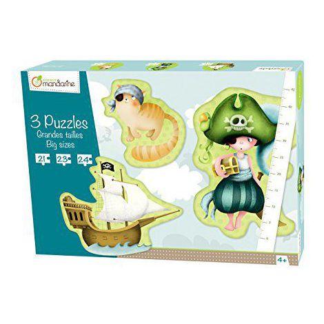 3 large puzzles pirates