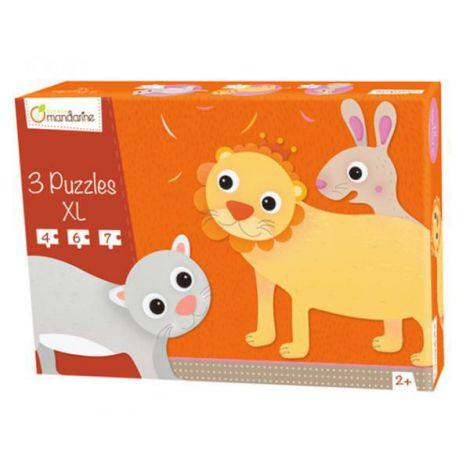 3 xl puzzles, hairy animals