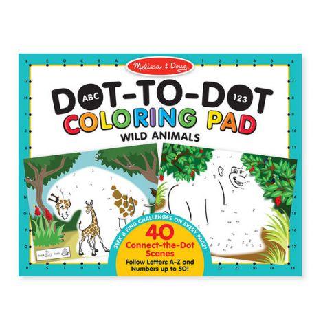 Bloc de colorat punct cu punct Animale salbatice - Melissa & Doug
