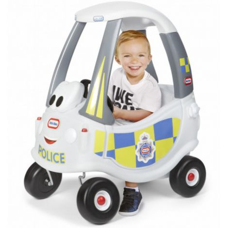 Masinuta de politie Cozy Coupe alba Little Tikes