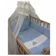 Lenjerie de pat nino 3 plus-cuoricini blue