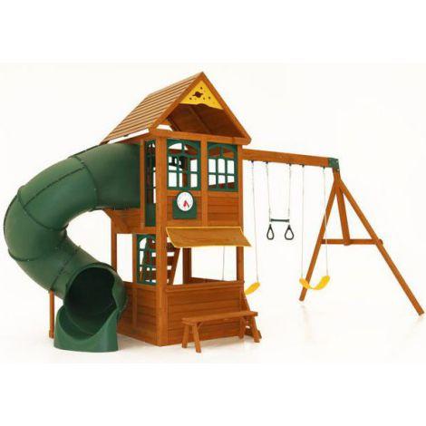 Complex de joaca din lemn pentru copii Forest Ridge Kidkraft