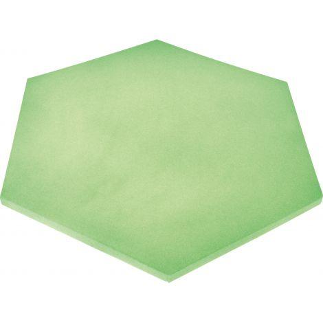 Panou hexagonal verde moss 20 mm pentru reducerea zgomotului in clasa