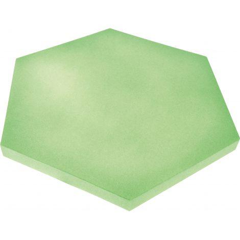 Panou hexagonal verde moss 40 mm pentru reducerea zgomotului in clasa