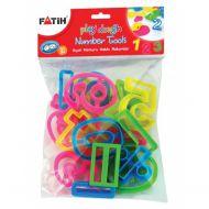 Forme modelat plastilina cifre FATIH