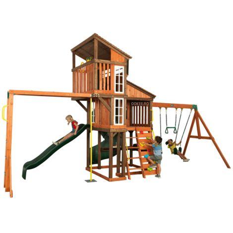 Complex de joaca din lemn de cedru Austin Playset Kidkraft