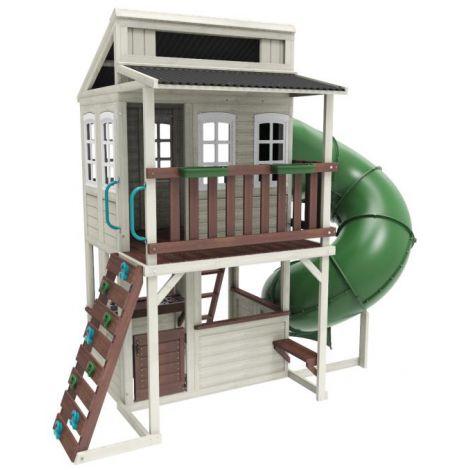 Complex de joaca din lemn de cedru Cozy Escape Kidkraft