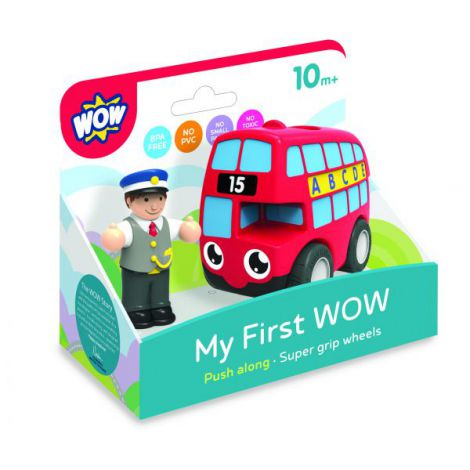 Wow my first primul meu autobuz rosu basil