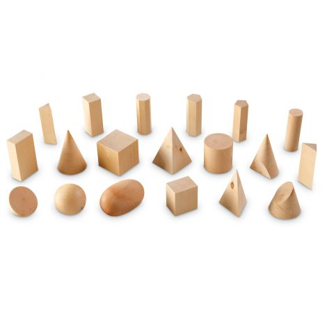 Forme Geometrice Din Lemn (set 19) imagine