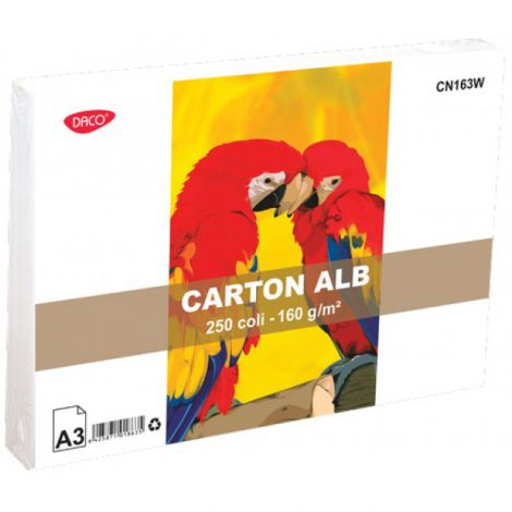 Carton alb A3 160 gr set 250 coli