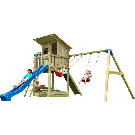 Spatiu de joaca Beach Hut - BlueRabbit cu Modul Swing-Minipicnic Wall