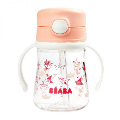 Cana Beaba cu pai 240 ml Light Pink