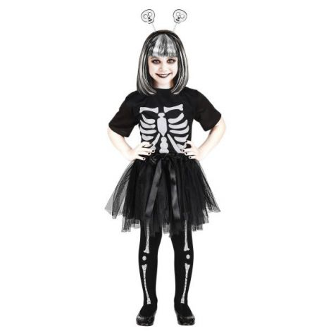 Costum schelet fetite 3 piese - marimea 140 cm