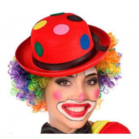 Palarie clown rosie buline