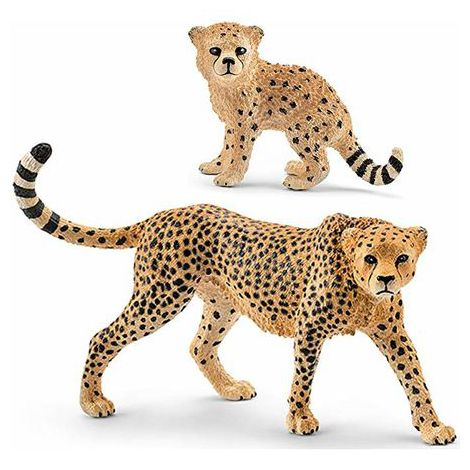 Figurina schleich mama ghepard si pui de ghepard