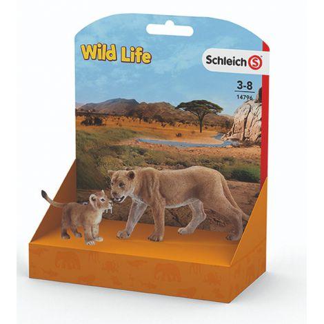 Figurina schleich leoaica si pui de leu
