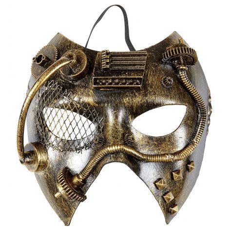 Masca Steampunk Aurie imagine