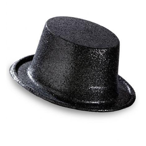Palarie glitter neagra