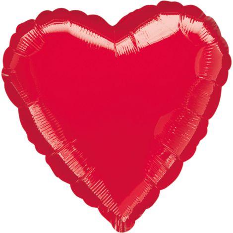 Balon folie inima rosie