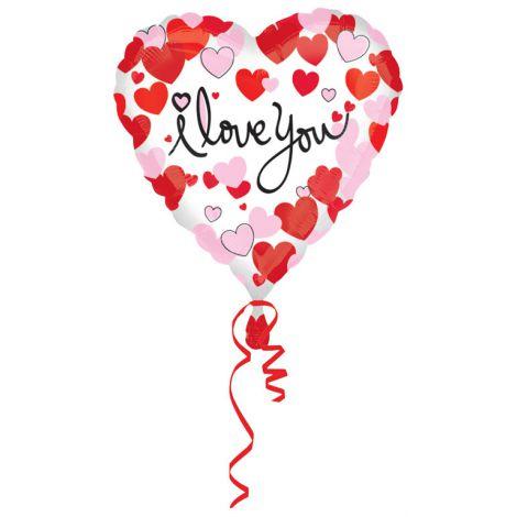 Balon folie inima i love you - marimea 128 cm
