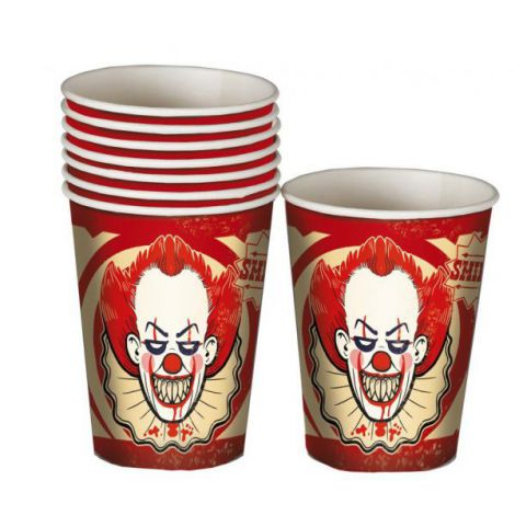 Pahare Clown Horror 8 Buc imagine