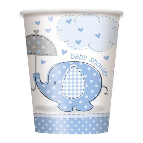 Pahare Baby Shower Baiat 8 Buc imagine