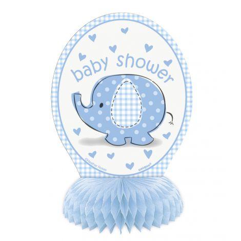Decor central masa baby shower baiat