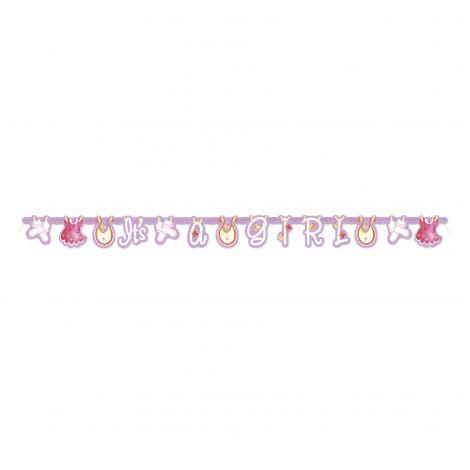Banner baby shower fetita