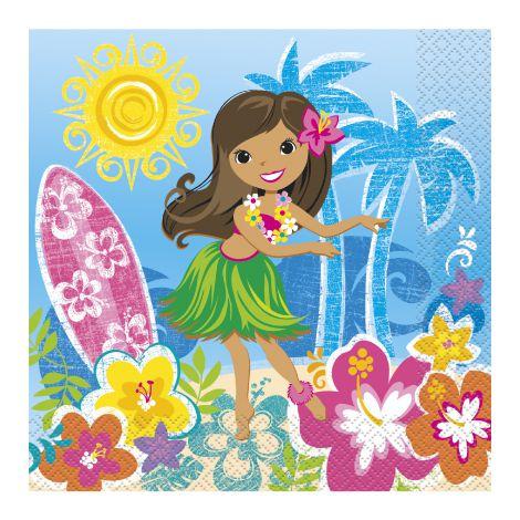 Servetele Petrecere Hawaii 16 Buc imagine