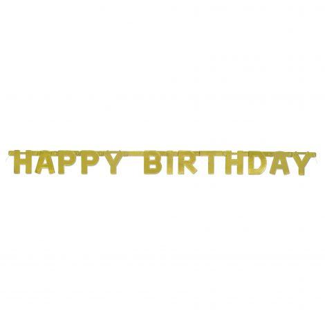 Banner happy birthday auriu