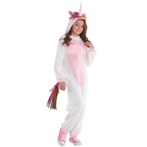Costum salopeta unicorn 8-10 ani