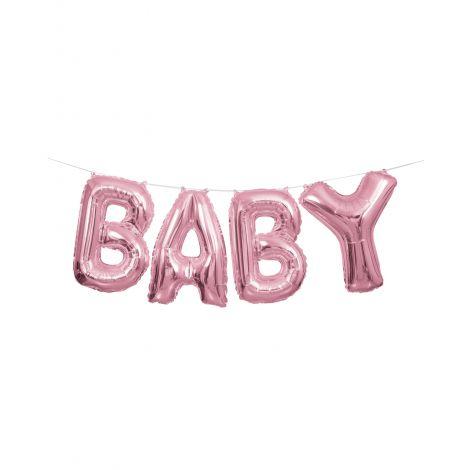 Baloane ghirlanda baby roz