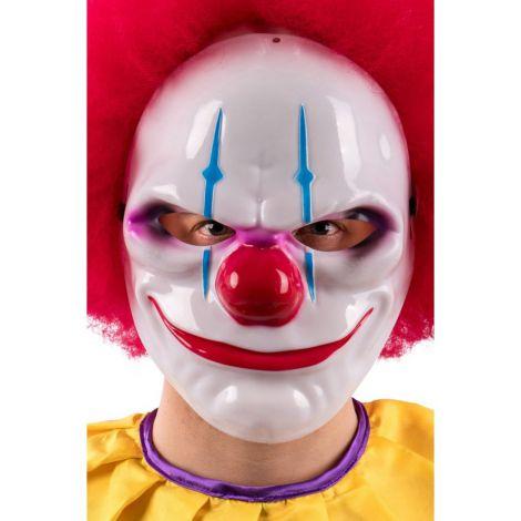Masca clown horror plastic - marimea 140 cm