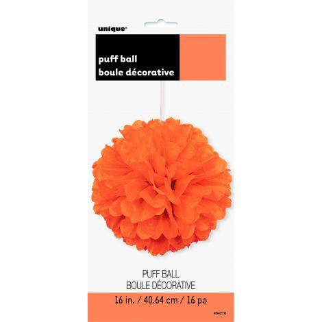 Pom pom portocaliu 40 cm