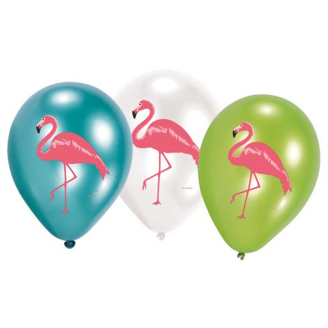 6 baloane latex flamingo