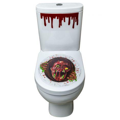Decor capac toaleta zombie