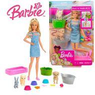 Barbie Gama Family - Set de joaca papusa si animalutele domestice