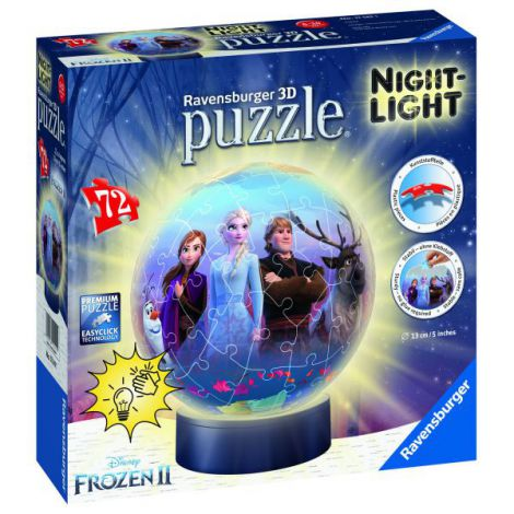 PUZZLE 3D LUMINOS FROZEN II, 72 PCS