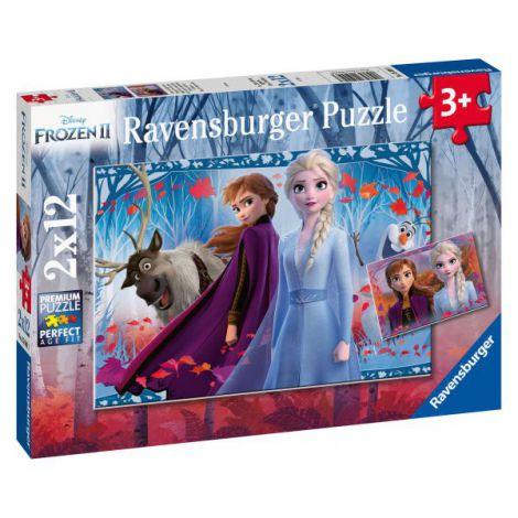 Puzzle Frozen Ii, 2x12 Piese imagine