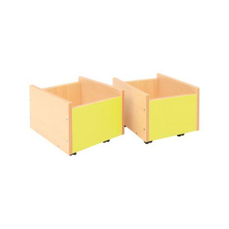 Cutie depozitare cu roti - Lime