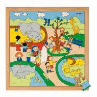Puzzle din lemn 64 piese La Zoo
