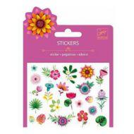 Set abțibilduri Djeco, flori cu sclipici