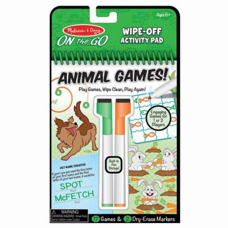 Carnet reutilizabil cu activitati si jocuri Animale -Melissa And Doug