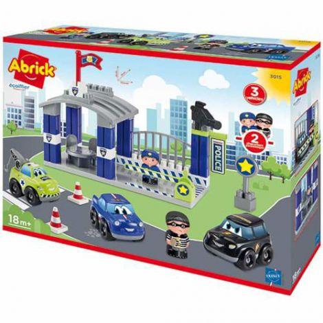 Joc de Construit Statia de Politie cu Drum Auto Abrick