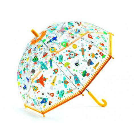 Umbrela colorata Djeco Nave si vehicule in zbor