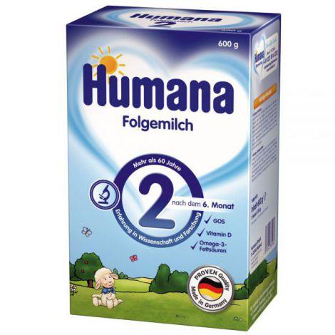 Lapte praf Humana 2 de la 6 luni 600 g