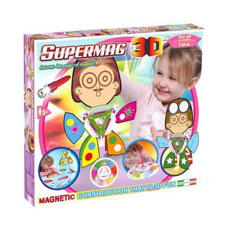 SUPERMAG 3D - JUCARIE CU MAGNET TRIUNGHI