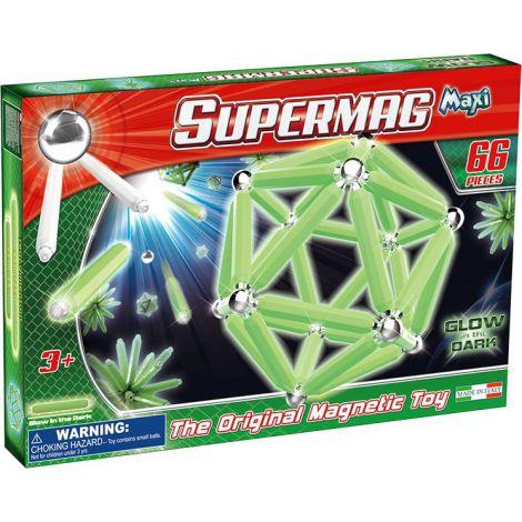 Supermag Maxi Glow - Set Constructie Luminos 66 Piese