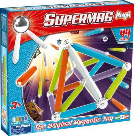 Supermag Maxi Neon - Set Constructie 44 Piese