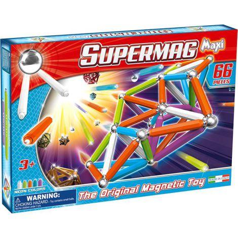 Supermag Maxi Neon - Set Constructie 66 Piese